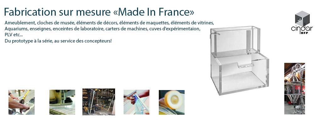 Fabrication sur mesure en plexiglas