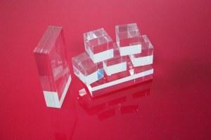 Bloc PMMA Incolore 80 x 80 x 80