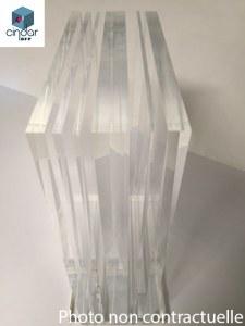 PMMA Coulé Incolore Plexiglas ® 25 mm - Prix au m²