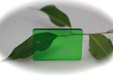 PMMA Coulé Vert Clair Transparent coloré Setacryl ® 1050 - 3 mm - Prix au m²