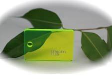 PMMA Coulé Vert Fluo Transparent Setacryl ® 1150 - 3 mm - Prix au m²
